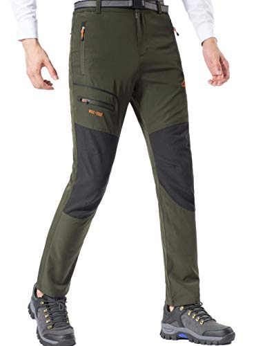 DAFENP Pantalon Randonnee Homme Imperméable Outdoor Ete Pantalon Trekking Softshell Séchage...