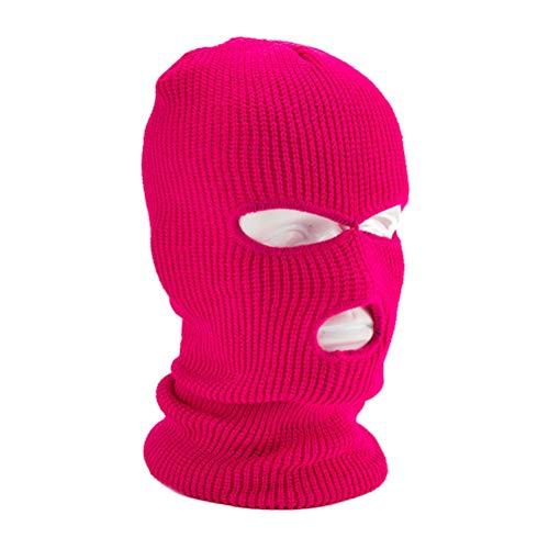 Egosy Masque de Ski Cagoule Balaclava Thermique Adulte Masque 3 Trous Masque Facial de Style...