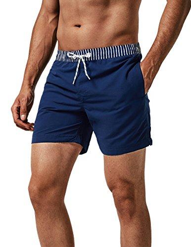 MaaMgic Homme Short de Bains Maillot de Bain avec Filet Style Tropical Voyage Pants Court de...