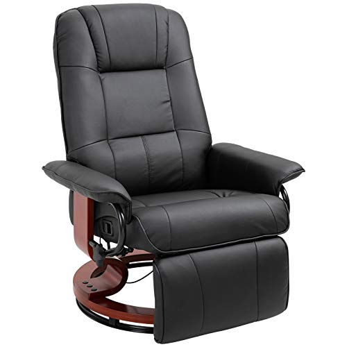 HOMCOM Fauteuil Relax inclinable Repose-Pieds réglable pivotant...