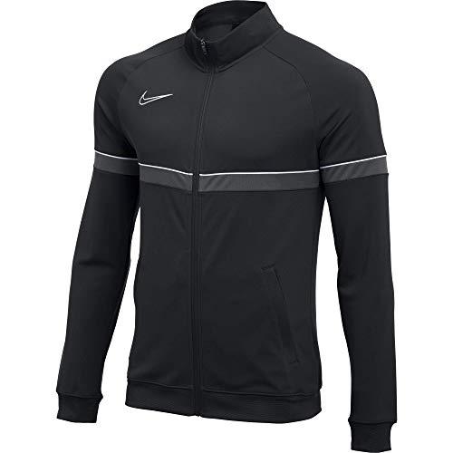 Veste de Football de Survêtement en Tricot pour Grand Enfants, Taille M, Noir/Blanc/Anthracite/Blanc