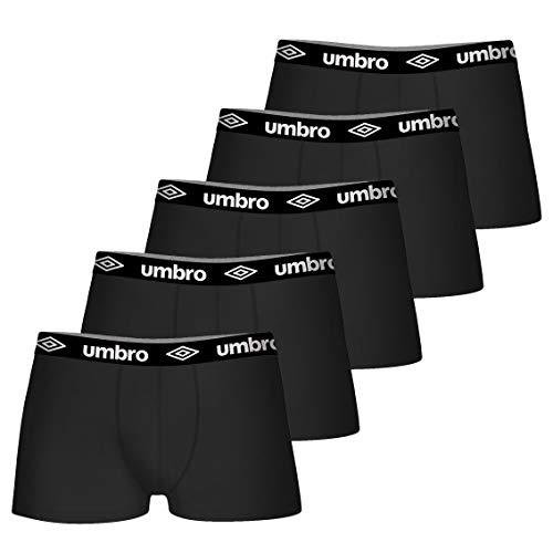 Umbro Boxer UMB/1/BCX5 - Lot de 5 - Caleçon Boxeur - Homme - Noir - M
