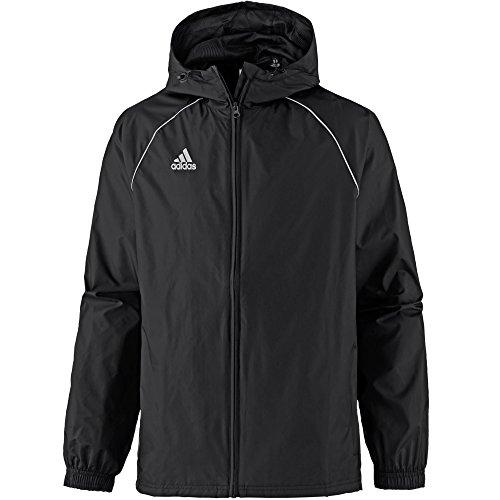 adidas Core 18 Rain Jacket Veste Imperméable Homme Black/White FR: L (Taille Fabricant: L)