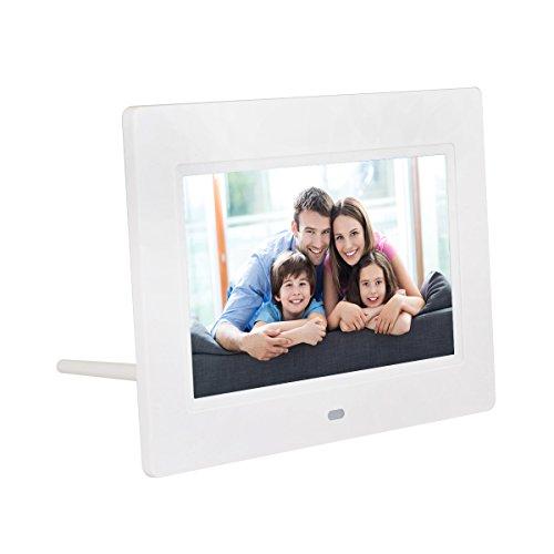 QUMOX Cadre photo numérique à cristaux liquides de 7 po avec écran LCD