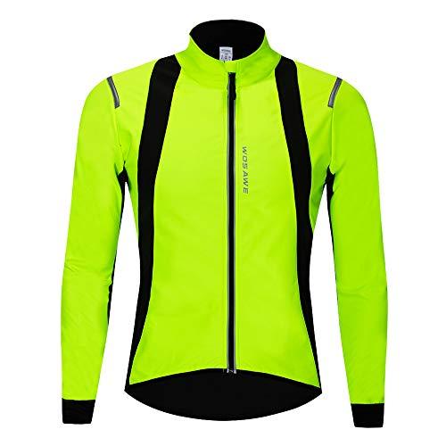 WOSAWE Hommes Vestes de Cyclisme Fleece Thermique Vélo Coupe Vent Impermeable Vêtements pour...