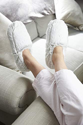 Warmies Chaussons entièrement chauffants parfumés à la lavande française - Marshmallow grise prix et achat