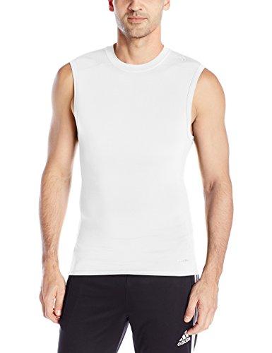 adidas Techfit Maillot de corps sans manches pour homme petit blanc