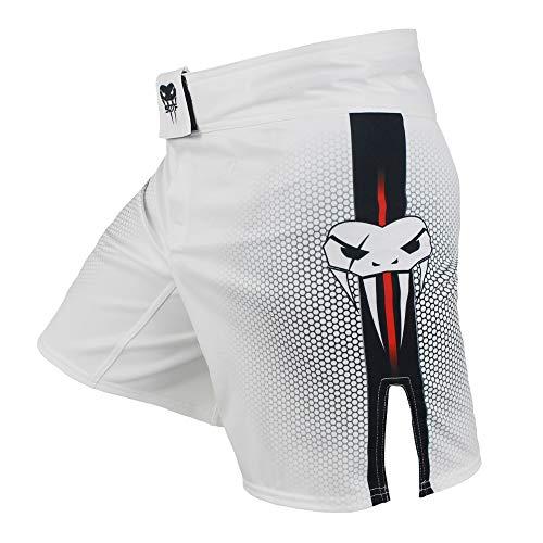 SOTF Short de boxe pour homme - Short d'entraînement de combat pour MMA, BJJ - Sans Gi, blanc, XX-Large prix et achat