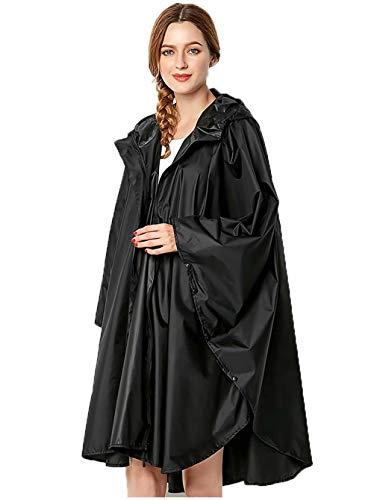 Veste de Pluie Poncho pour Femme Imperméable Léger Réutilisable Randonnée Manteau de Pluie...