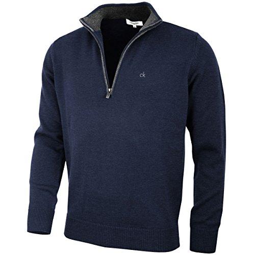 Calvin Klein Golf Hommes Pull en Coton - Marine - XL