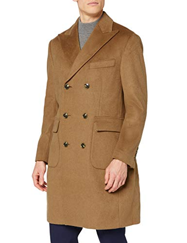 Marque Amazon - find. Wool Mix Double Breasted Smart - Manteau - Homme, Marron (Camel), XS,...