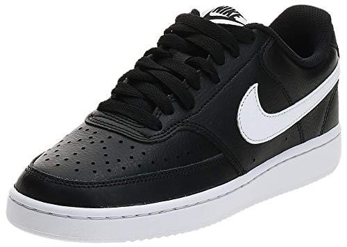 Nike WMNS Court Vision Low, Chaussure de Basketball Femme, Noir Black White 001, 41 EU