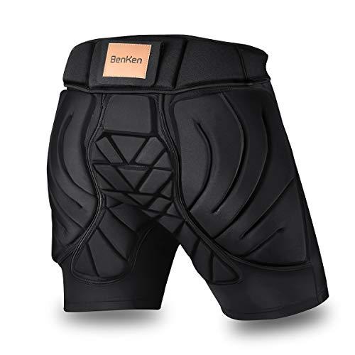 BenKen Short de Protection Hip Pad Pantalon de Protection pour Cyclisme Patinage Snowboard...