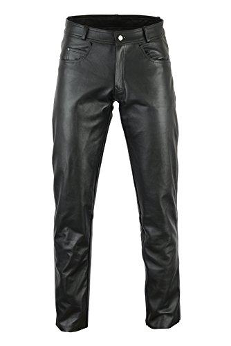 Bikers Gear Australia Pantalon de Moto en Cuir Souple Rock and Roll pour Femme - en Cuir de qualité supérieure pour Un Ajustement Confortable - Noir - Taille L