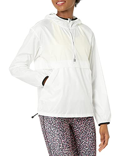 Amazon Essentials Pullover Coupe-Vent Pliable Sweat-Shirt, Blanc, S