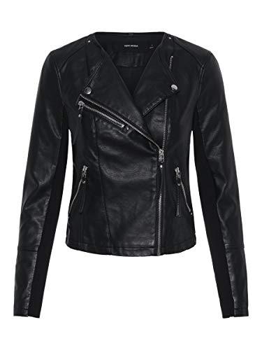 Vero Moda Vmria Fav Short Faux Jacket Noos Blouson, Noir (Black Black), 40 (Taille Fabricant: Medium) Femme