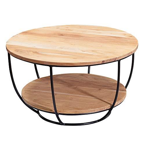 FineBuy Table Basse Acacia en Bois Massif 60 x 34,5 x 60 cm |...