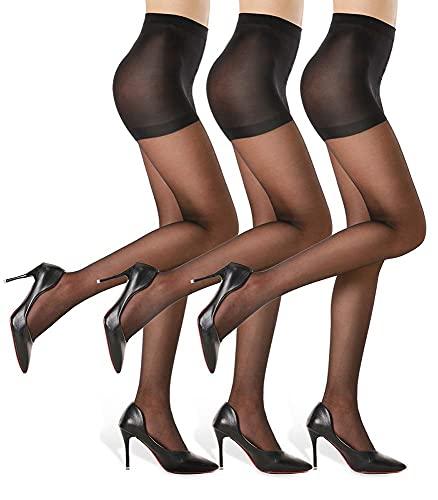 HA WA 3 Paires Collant Femme, Collants Ventre Plat Indechirable 20D