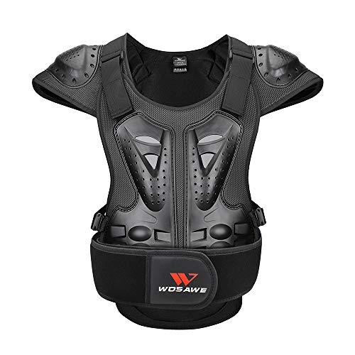 WOSAWE Gilet de protection pour adulte pour moto tout-terrain, VTT, poitrine, dos - Taille L