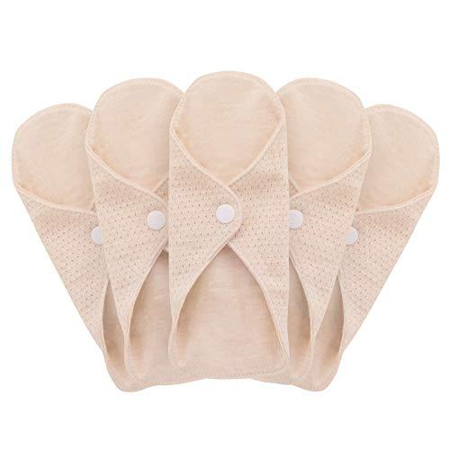 Mqupin Serviettes hygiéniques réutilisables - En coton biologique - Pour femme - Lavable -...