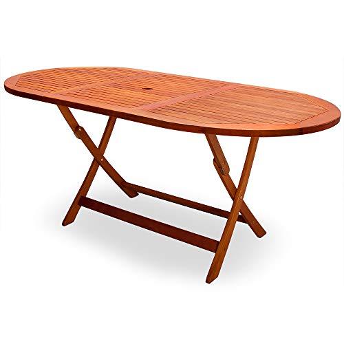 Deuba Table de Jardin Pliable 'Alabama' en Bois d'Acacia pré-huilé certifié FSC - Table Pliante terrasse Balcon