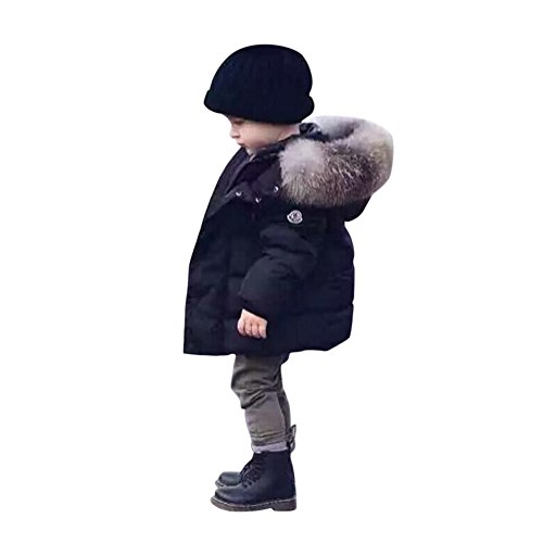 Chic-Chic Blouson Manteau Fourrure Chaud Enfant Garçon Fille Doudoune à Capuche - Veste à...