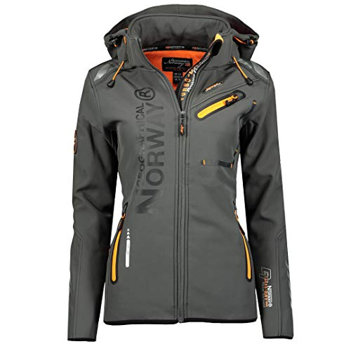 Geographical Norway REINE LADY - Veste Softshell Femme Impermeable - Jacket À Capuche Outdoor...