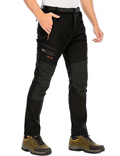 DAFENP Pantalon Ski Randonnee Homme Imperméable Hiver Pantalon Montagne Softshell Chaud...