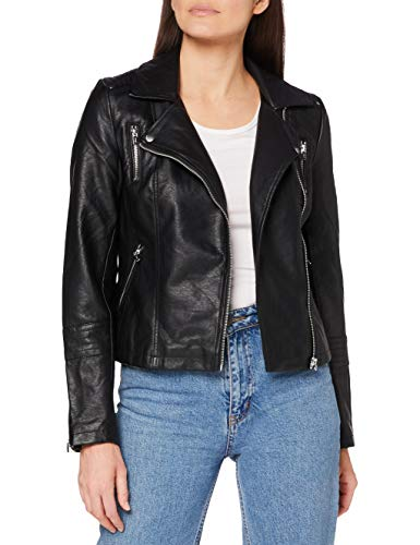 Only Onlgemma Faux Leather Biker OTW Noos Blouson, Noir (Black Black), Medium (Taille Fabricant: 38) Femme