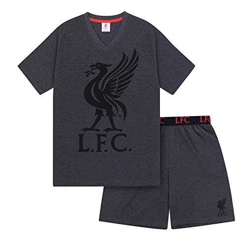 Liverpool FC Officiel - Ensemble de Pyjama Court thème Football - Homme - Gris - XL