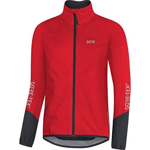GORE Wear C5 Homme Veste de cyclisme GORE-TEX, M, Rouge/Noir
