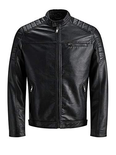 Jack & Jones Jcorocky Jacket Noos Blouson, Noir (Black Pattern: PU), Medium Homme