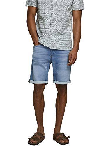 Jack & Jones Jjirick Jjicon Shorts Ge 003 I.k STS, Jean Bleu, M Homme