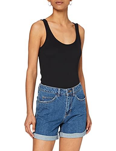 Vero Moda Vmnineteen HR Loose Shorts Mix Noos, Bleu (Medium Blue Denim Medium Blue Denim), 36...