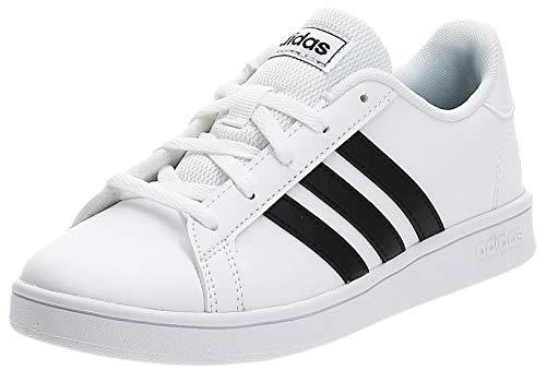 adidas Grand Court K, Chaussure de Tennis, Blanc FTW Bla Negbás FTW Bla 000, 38 2/3 EU