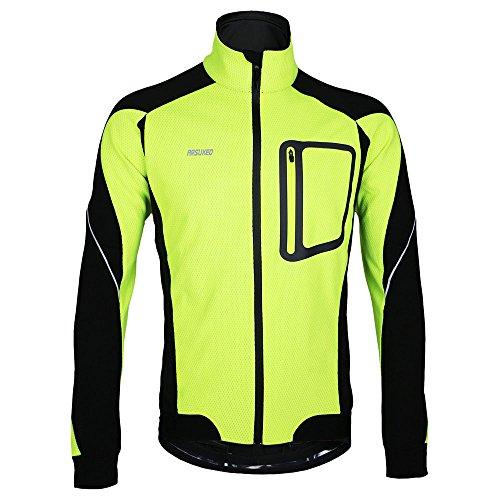 Docooler Veste à Manches Longues Hiver, Chaud Cyclage Thermique à Manches Veste, Vélo...