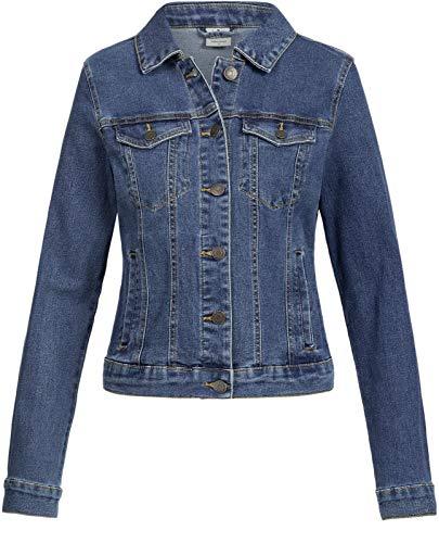 Vero Moda Vmhot SOYA Ls Jacket Mix Noos Blouson, Bleu (Medium Blue Denim Medium Blue Denim), 44...