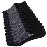 Homme Chaussettes Basses Respirantes Courtes Socquettes de Sport en Coton Confortable Basiques Chaussettes,6 Paires Noir,Taille: 38-44