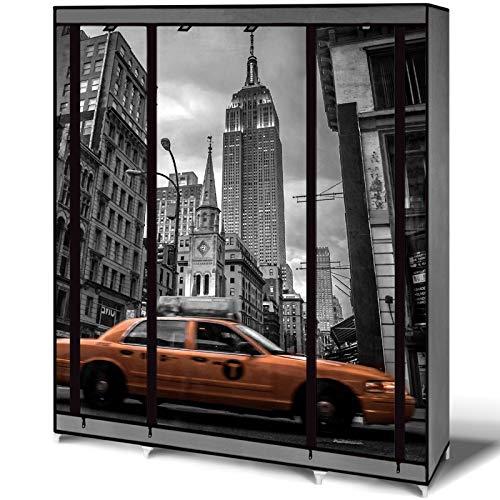 IDMarket - Armoire de rangement New York dressing penderie XXL...