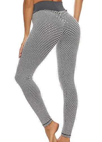 FITTOO Legging Scrunch pour femme Texture Bootybomb élastique anti cellulite Rampement fesses...