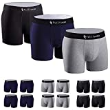 Fullluwaa Boxers (Lot de 12) Homme Coton Slip Fitted Trunk Caleçons-L