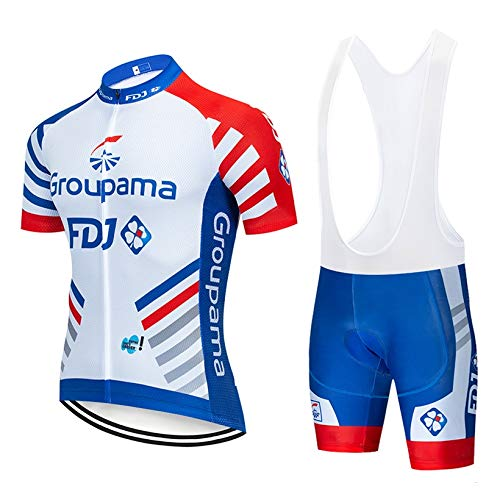 STEPANZU Maillot Cyclisme Homme Pro Vêtement Cycliste + Cuissard Rembourré Gel Tenue Vélo Respirant Combinaison VTT
