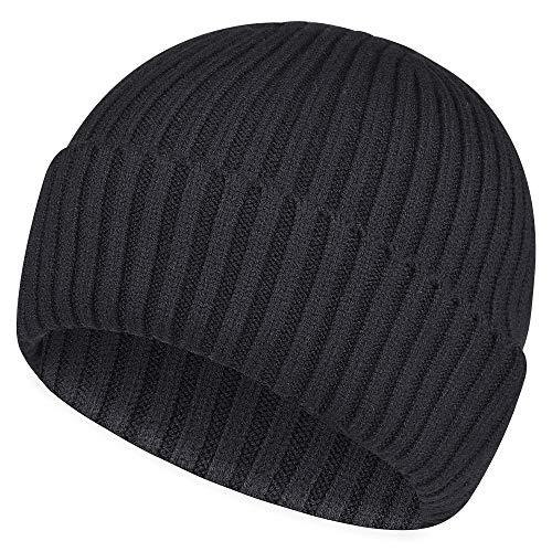 Sholov Bonnet Tricoté Homme Femme Unisexe Chapeau Beanie Bonnet en Laine Hiver Respirant et...