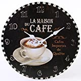 Horloge Murale : Jones Home et la Maison du cafe rustique