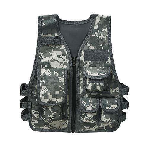 Freebily Enfant Garçon Gilet Camouflage Militaire Mode Sweat T-Shirt Pulls Gilet Tactique...