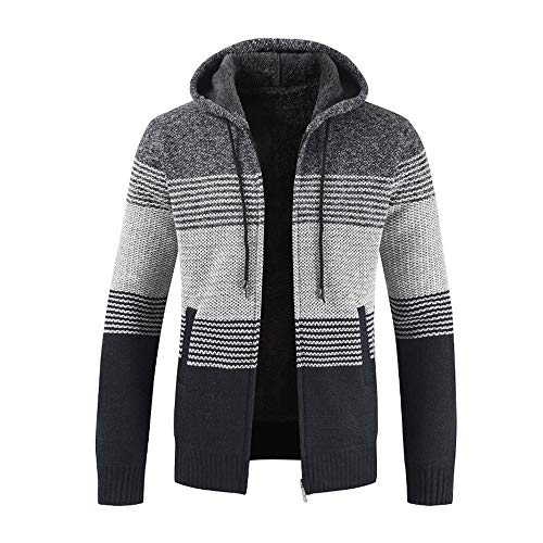 Hauts Veste Homme Sweaters Trench Coat,Manteaux Cardigan Mode Sweatshirt Chaud Pull Sweat,Hiver...