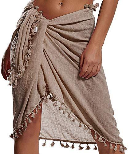 Tuopuda Robe de Plage Femme Wrap de Plage Sarong Gland Cache-Maillots de Bikini Paréo de Plage...