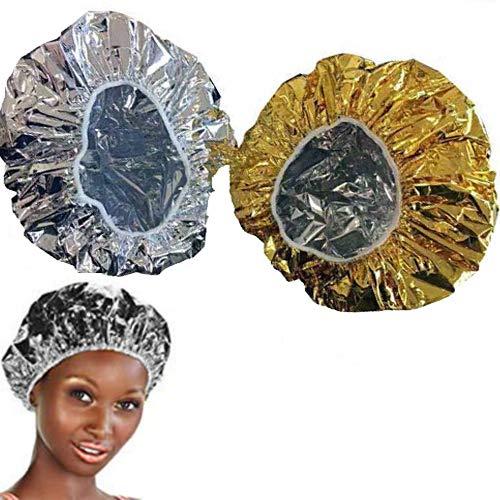 O³ Bonnet Chauffant Pour Soins Capillaires-2 Bonnet Auto Chauffant Cheveux pour Masque-Charlotte auto chauffante : 1 Gold & 1 Silver prix et achat