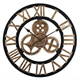 OviTop Horloge Murale de 60cm XXXL Industrielle