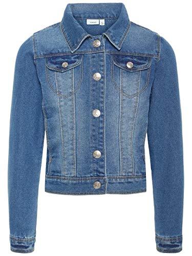 Name IT NITSTAR RIKA DNM Jacket NMT Noos, Blouson Fille, Bleu (Medium Blue Denim), 146